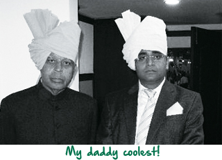 Vijay Shekhar Sharma with his dad