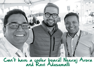 Vijay Shekhar Sharma with neeraj arora and ravi adusumalli