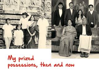 VG Siddhartha family photo then and now