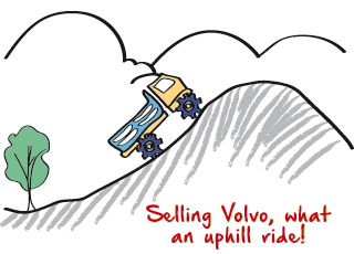 selling volvo,what an uphill ride