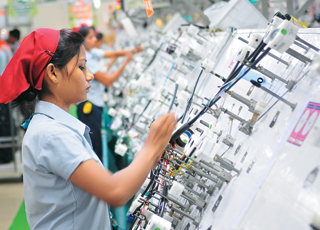 Motherson Sumi assembaly line